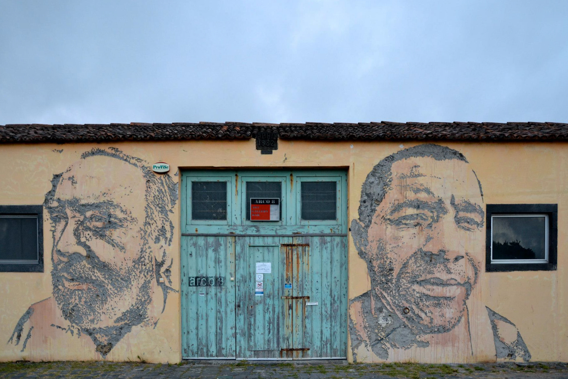 Artwork from Vhils at Arco 8