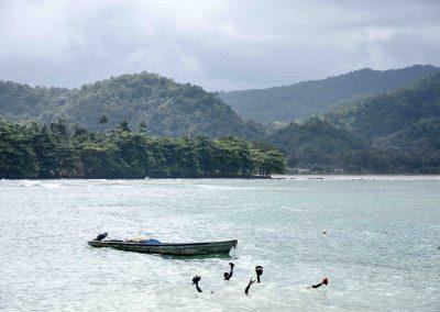 São Tomé – Perspectiva desde um carro em movimento