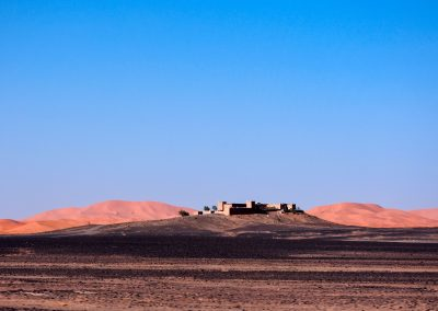 First sight of Merzouga desert